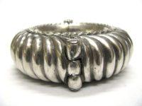 Antique Indian Silver Cuff Bracelet