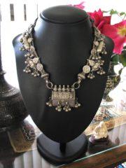 Antique Indian Necklace, Gujarat Prayer Box Necklace