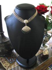 Vintage Sri Lanka Choker Necklace, Padakam Pendant