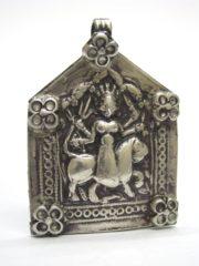 Antique Indian Amulet, Goddess Durga
