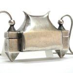 Antique Lingam Casket, Container, (Ayigula), Chauka, Karnataka, Silver,105 Grams(3.75oz)