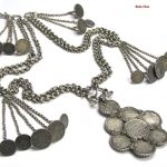 British India Rupee Necklace, Half Rupee Necklace, Rupaya Har or Hullar, 26 Coins, 89 cm (35″), 516 Grams