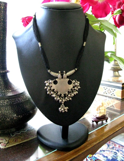 Antique Indian Necklace, Amulet Pendant, Rajasthan