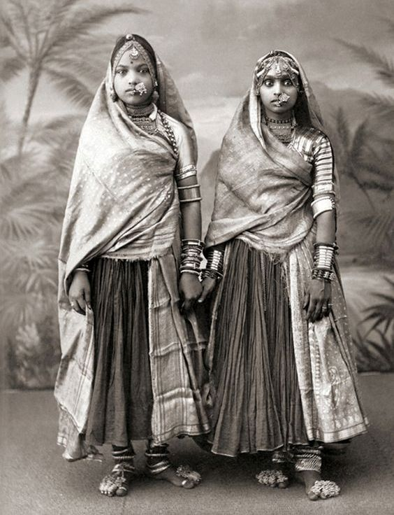 Two Marwari Women, India, c. 1850's attributed to Taurines