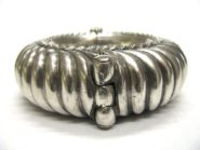 Antique Indian Silver Cuff Bracelet