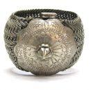 Antique India Bracelet, Vauk Armlet, Madhya Pradesh, Low Grade Silver, 249.5 Grams