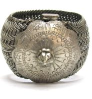 Antique India Bracelet, Vauk Armlet, Madhya Pradesh, Low Grade Silver, 249.5 Grams
