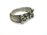 Vintage Indian Silver Ring, Makara Heads