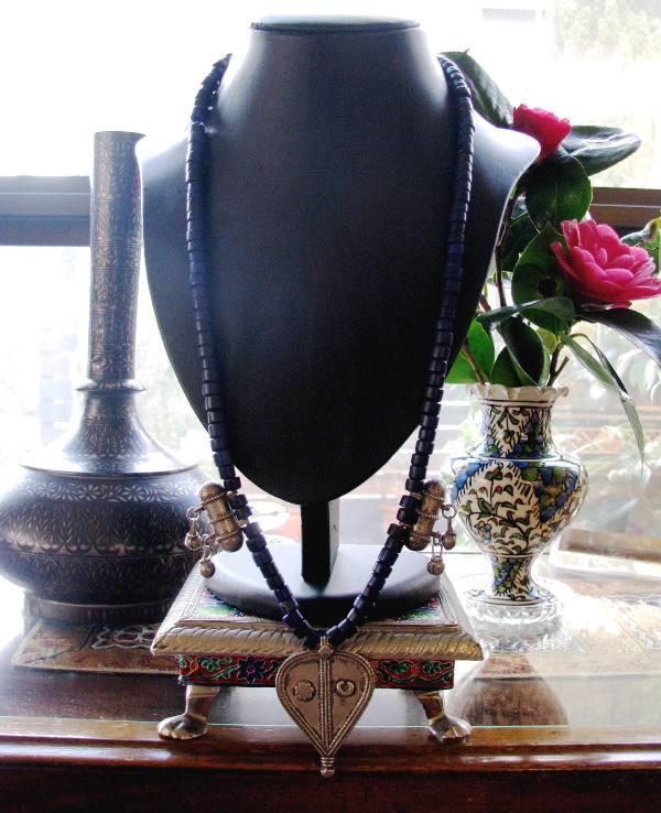 Antique Indianh Amulet, Cache-Sexe Ornament Necklace