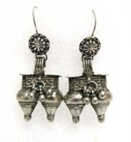 Antique Indian Earrings, Old Nagali Earrings, Rabari Dhebaria Earrings