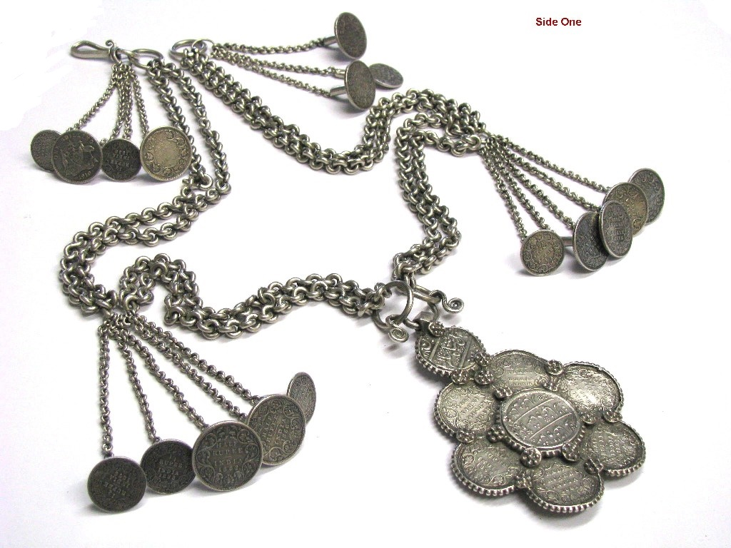 British India Rupee, Half Rupee Man's Necklace