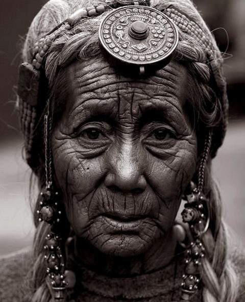 Tibetan Woman with Hair Bead Ornament