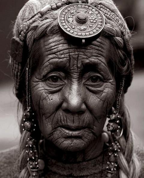 Tibetan Woman with Hair Bead Ornament