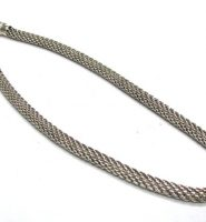 Vintage Indonesian Silver Mesh Chain Necklace, 7mm, High Grade Silver, 66 Grams, (2.325oz.) 49.5cm (19 1/2″)