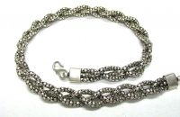 Vintage Indonesian Diamond Wheat Chain Necklace