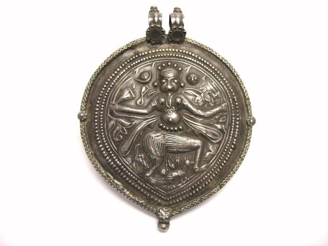 Antique Indian Amulet, Bheru Bhairava Form of Shiva