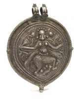Antique India Amulet, Bhairava Form of Shiva