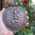 Antique Indian Amulet, Bhairava Form of Shiva, EXTRA LARGE, 68 Grams