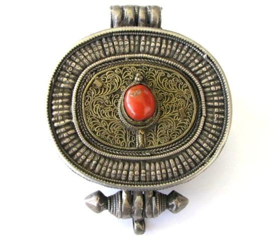 Antique Tibetan Gau, Tibetan Ghau