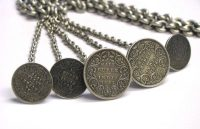 British India Rupee, Half Rupee Man's Necklace